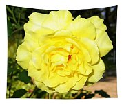 Upbeat Yellow Rose Tapestry
