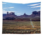 Utah, Usa Highway And Rock Formations Tapestry