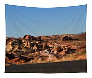 Valley Of Fire Winding Road Tapestry