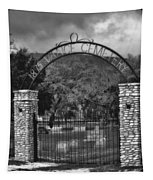 Vance Cemetery Black And White Tapestry