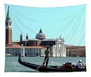 Venice From A Gandola Tapestry