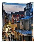 Venice From Ponte Di Rialto Tapestry
