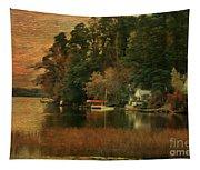 Vermont Autumn Shoreline Tapestry