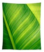 Vibrant Green Leaf Tapestry