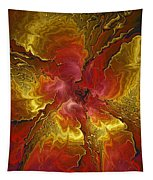 Vibrant Red And Gold Tapestry