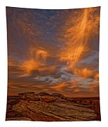 Vibrant Sunset Over The Rim Of Canyon Tapestry