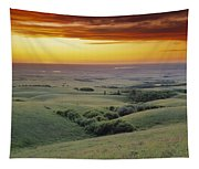 View From The Cypress Hills Tapestry