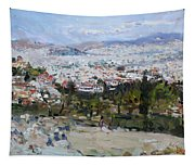 View Of Athens From Acropolis Tapestry