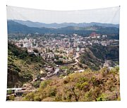 View Of Katra Township While On The Pilgrimage To The Vaishno Devi Shrine In Kashmir In India Tapestry