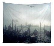 View Of San Giorgio Maggiore From The Piazzetta San Marco In Venice Tapestry