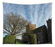 View Of St Mary Church And Clouds In Dover Castle Tapestry