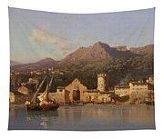 View Of Taormina Sicily Tapestry