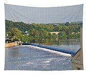 View Of The Fairmount Dam  Tapestry