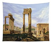 View Of The Roman Forum Tapestry