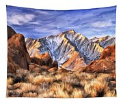 View Of The Sierras Tapestry
