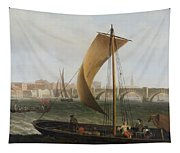 View On The Thames With Westminster Bridge Tapestry