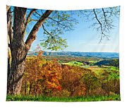 View With Caution Tapestry
