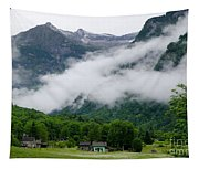 Village In The Alps Tapestry