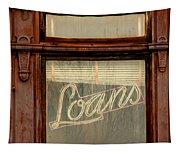 Vintage Bank Sign Tapestry