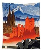 Vintage Germany Travel Poster Tapestry