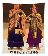 Vintage India Travel Poster Tapestry