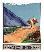Vintage Ireland Travel Poster Tapestry