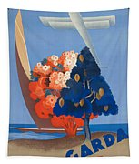 Vintage Italia Travel Poster Tapestry