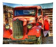 Vintage Red Dodge Tapestry