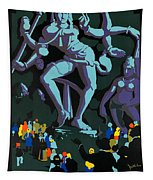 Vintage See India Travel Poster  Tapestry
