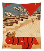 Vintage Ukraine Travel Poster Tapestry