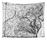 Virginia: Map, C1784 Tapestry
