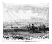 Wagon Train, 1859. For Licensing Requests Visit Granger.com Tapestry