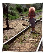 Waiting For The Train Tapestry