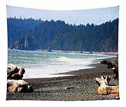Walk On La Push Beach Tapestry