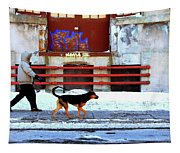 Walk On The Cold Side Tapestry