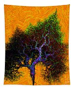 Was A Crooked Tree  Grunge Art Tapestry