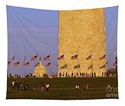 Washington Dc Sunset Tapestry