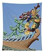 Wat Chaimongkol Pagoda Dragon Finial Dthb787 Tapestry