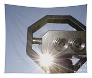 Watching The Sun With A Telescope Tapestry