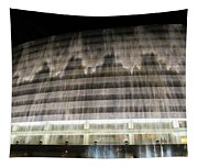 Water Cascade Over Building Tapestry