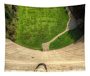 Water Dam And A Shoe Tapestry