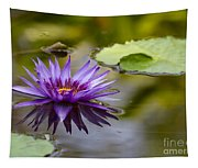Water Lily Kissing The Water Tapestry