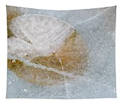 Water Lily Leaf In Ice, Boggy Lake Tapestry