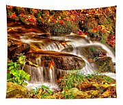 Water Over The Rocks Tapestry