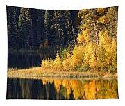 Water Reflection At Jade Lake In Northern Saskatchewan Tapestry