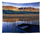 Water Reflections With Boat Tapestry