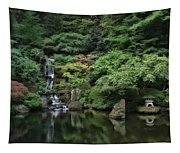 Waterfall - Portland Japanese Garden - Oregon Tapestry