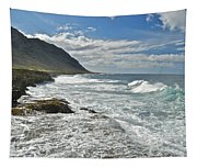 Waves Breaking On Shore 7876 Tapestry