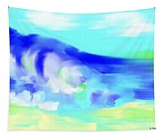Waves Crashing On The Beach Tapestry