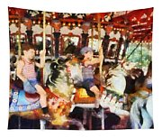 Waving Hi From The Merry-go-round Tapestry